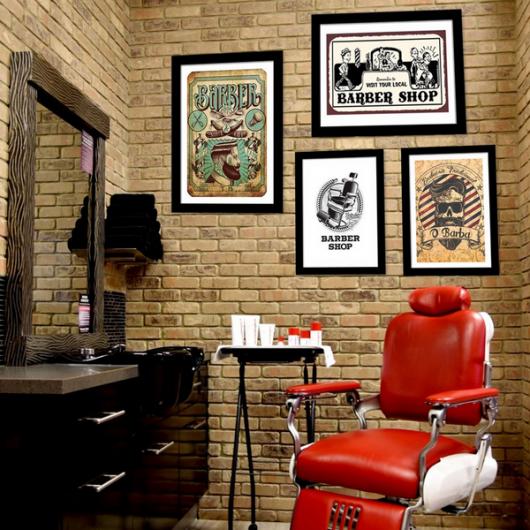Veja como compor uma barbearia com quadros