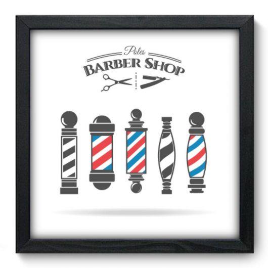 Quadro clean para barbearia