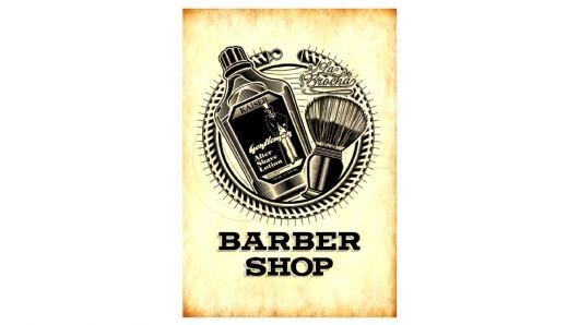 Quadro com desenho temático para barbearia