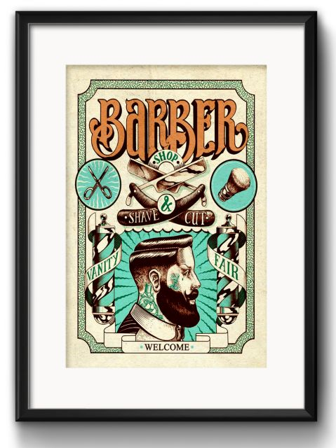 Poster perfeito para colocar em barbearia com estilo vintage