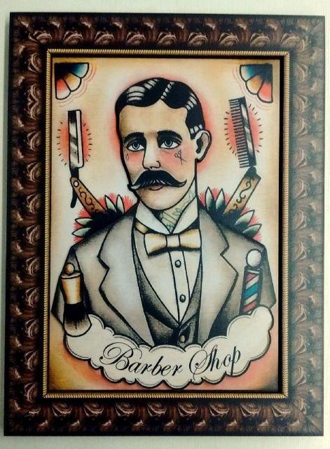 Dica de quadro decorativo para barbearia retrô