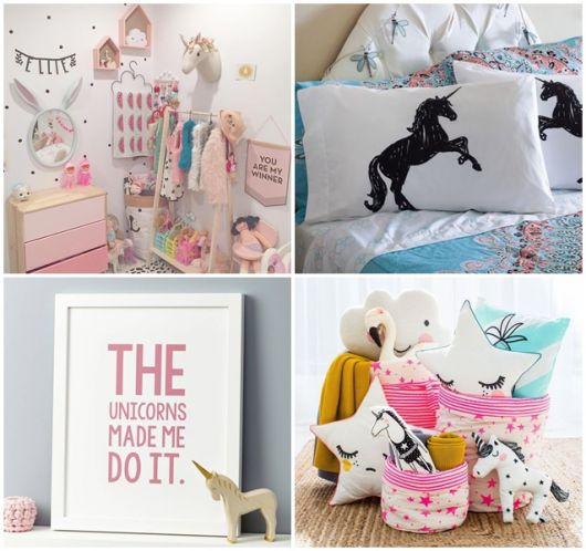 Sugestões para você decorar um quarto unicórnio
