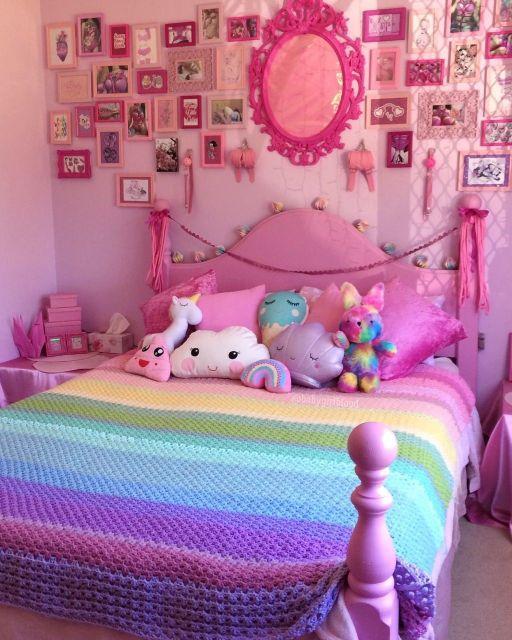 Qual tal então apostar no arco-íris para colorir o quarto?
