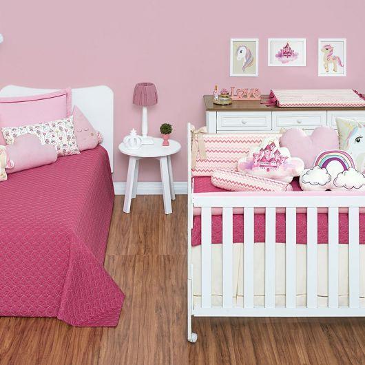 Decoração pink para quarto unicórnio