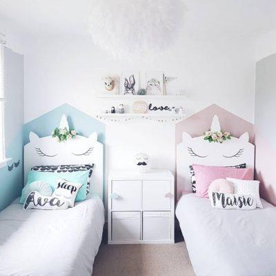 Que tal um quarto unicórnio para gêmeos?