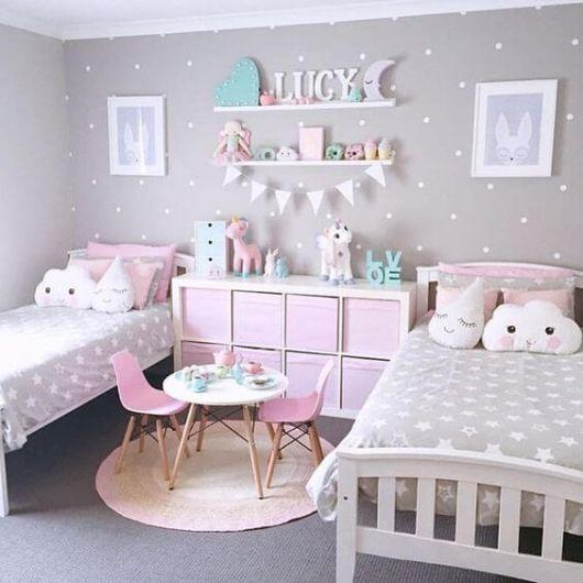 Dica para decorar quarto de irmãs com o tema unicórnio