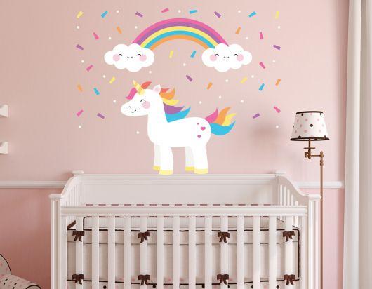 O tema unicórnio está em alta para quartos de bebês