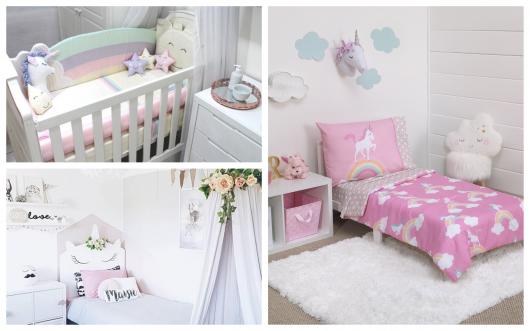 Conheça com a gente ideias lindas de decoração de quarto de unicórnio!