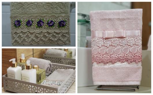 Conheça a seguir uma série de opções de toalhas para compor o lavabo de sua casa