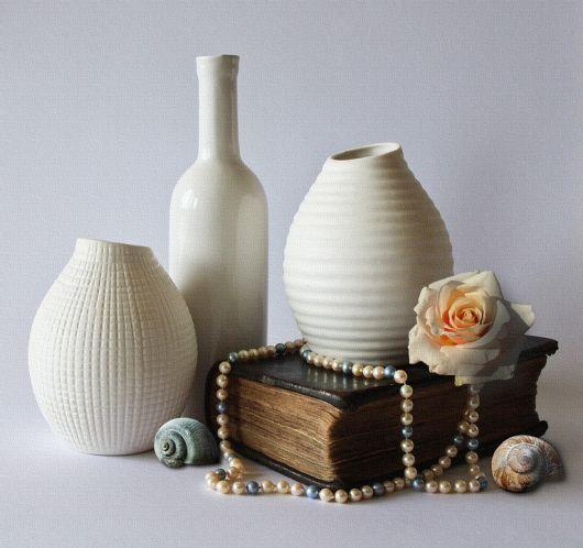Também há vasos perfeitos para decorações vintage