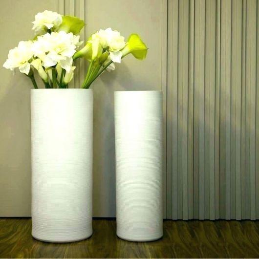 Vaso branco para decoração moderna