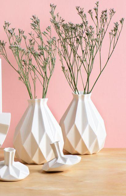 Vasos geométricos para criar uma decoração moderna