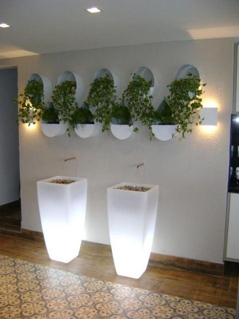 Vaso iluminado com luz de LED