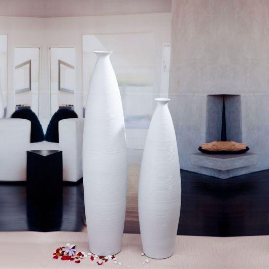 Vasos de cerâmica brancos perfeitos para decoração contemporânea