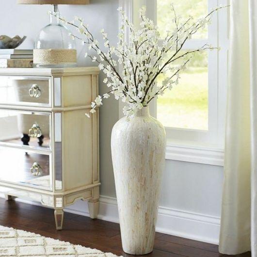 Dica de vaso branco elegante branco