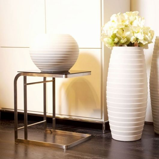 Vaso moderno grande na cor branca