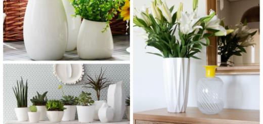 Conheça a elegância dos vasos brancos para decorar sua casa