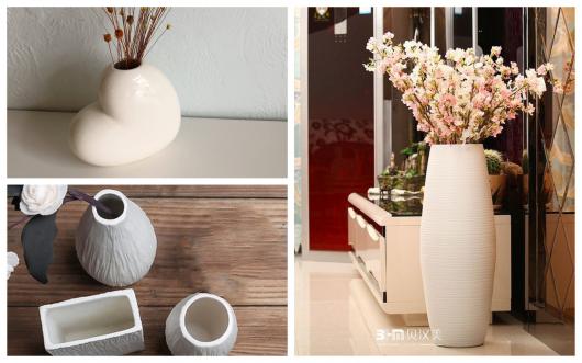 Ideias de vasinhos brancos de cerâmica