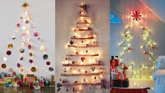 árvore de natal decorativa em 3 modelos - com pisca pisca.