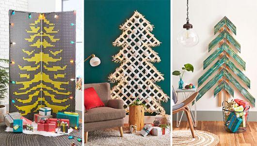 arvore de natal criativas de parede.