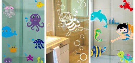 Lindos modelos e ótimas dicas para instalar um adesivo para box de banheiro