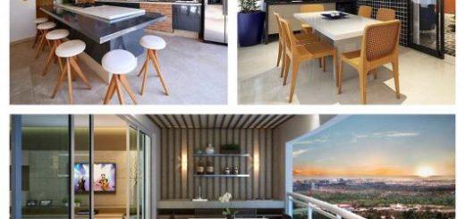 50 projetos encantadores de área gourmet moderna para você se inspirar!