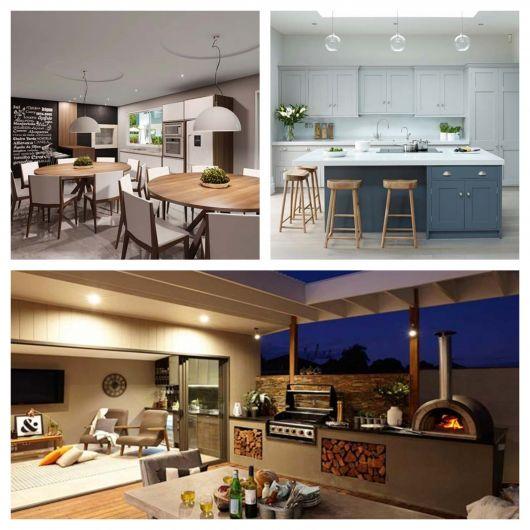 Projetos sofisticados ou mais simples: deixe a área gourmet moderno de acordo com seu espaço e seu gosto!