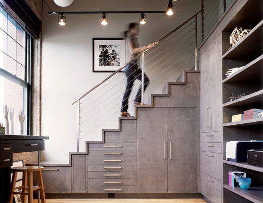 Projetos modernos e estilosos sempre atraem, como essa opção em cinza, por exemplo
