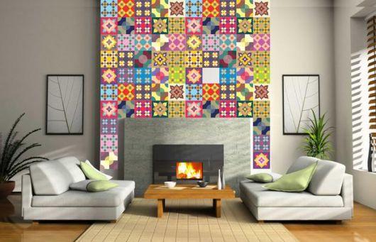 azulejos para sala colorido portugues