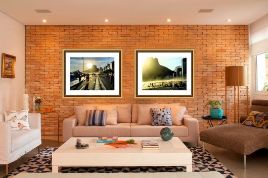 azulejos para sala efeito tijolo