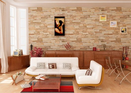azulejos para sala imitando tijolos