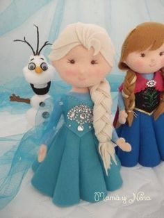 Boneca de feltro Frozen