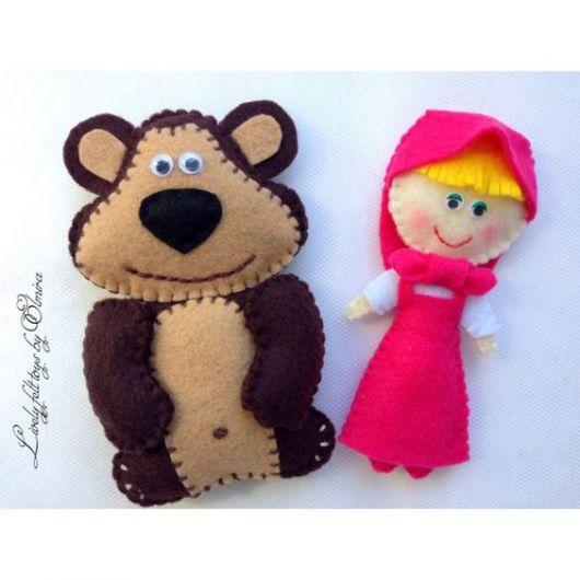 Boneca de feltro Masha