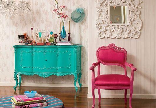 cadeira provençal vintage rosa pink