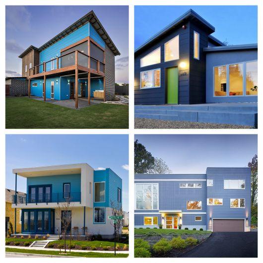 Cores de casas modernas as 70 ideias mais impressionantes for Cores modernas para fachadas de casas 2013