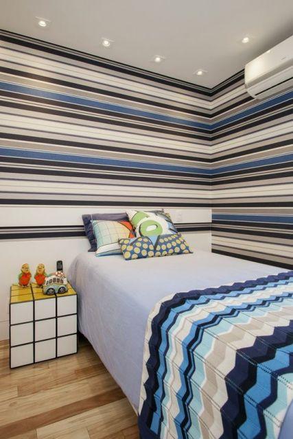 quarto masculino azul