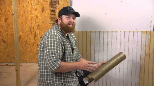 passo a passo papel de parede sobre madeira