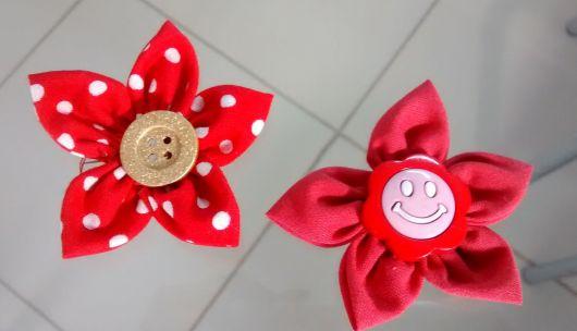 Como fazer fuxico: Flor vermelha
