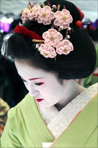 Como fazer fuxico: Japonês rosa