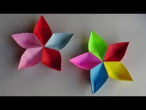 Dobradura de flor: Simples colorida