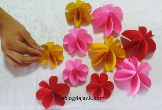 Dobradura de flor: Simples rosa