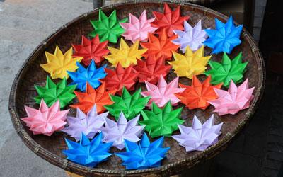 Dobradura de flor: Simples azul