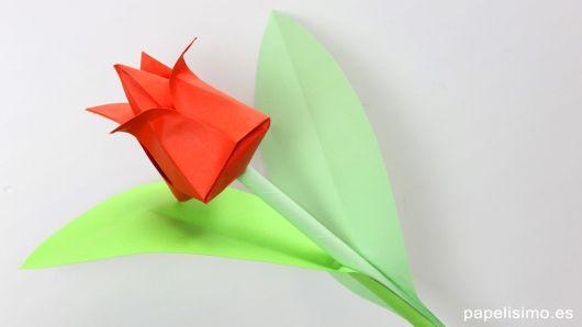 Dobradura de flor: Tulipa