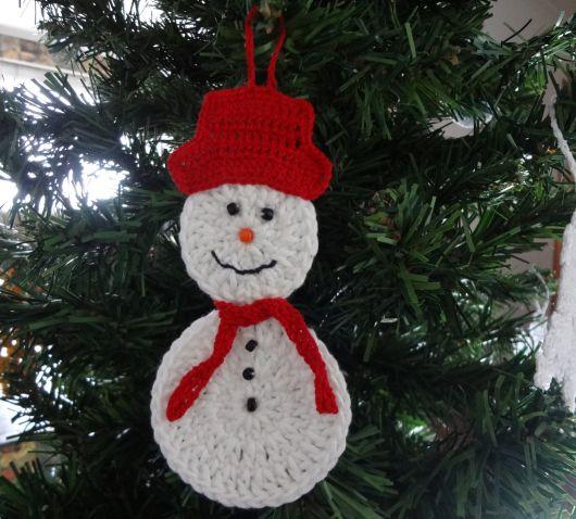 Boneco de neve para pendurar na árvore de natal