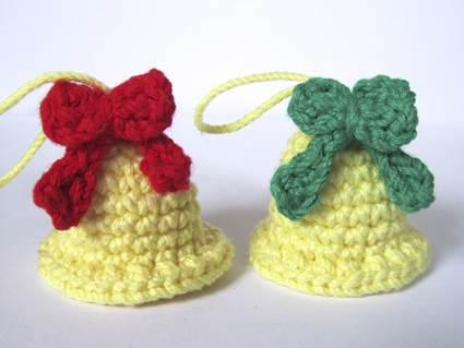 Mais modelos de sinos de crochê para decorar o Natal