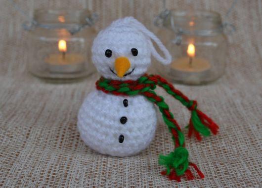 Boneco de Neve de crochê para decorar sua casa no Natal