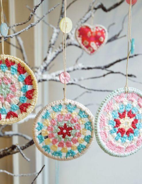 Modelos de bolas de natal de crochê