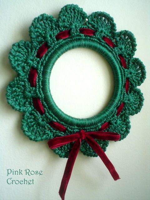 Enfeite de natal de crochê super elegante para a porta de sua casa