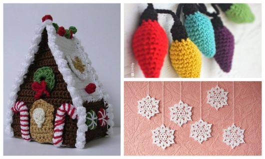 Sua casa pode ficar incrível com enfeite de Natal de crochê!