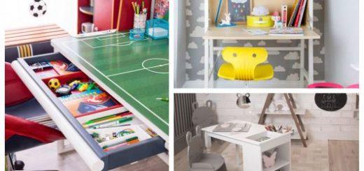 Inspire-se com uma série de modelos incríveis de escrivaninha infantil!